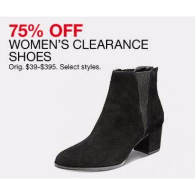 75% Off Women's Clearance Shoes
