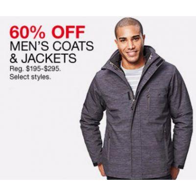 60% Off Men's Coats & Jackets