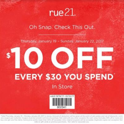 $10 Off Every $30 You Spend