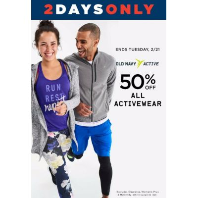 50% Off All Activewear