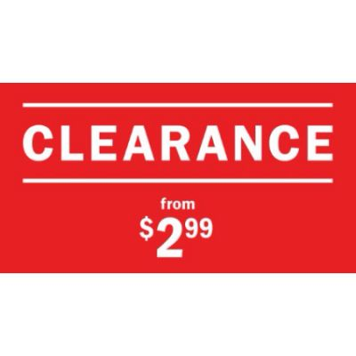 Clearance From $2.99