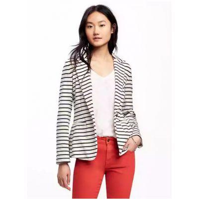 Single-Button Jersey-Knit Blazer for Women
