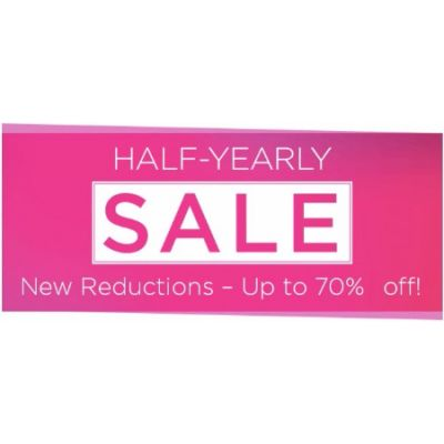 The Half-Yearly Sale up to 70% Off