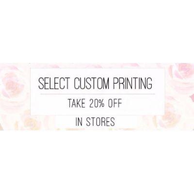 20% Off Select Custom Printing