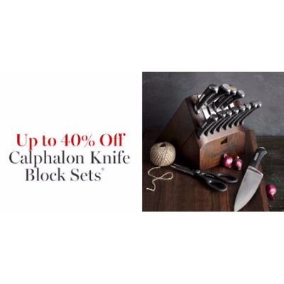 Up to 40% Off Calphalon Knife Block Sets