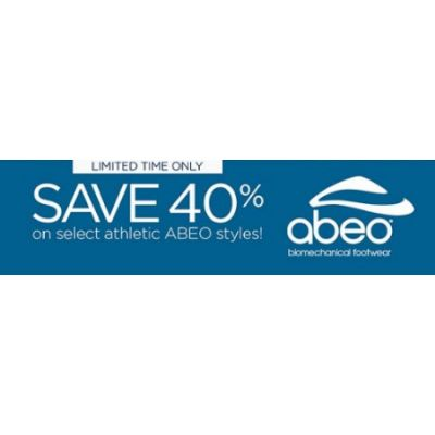 Save 40% on Select Athletic ABEO Styles
