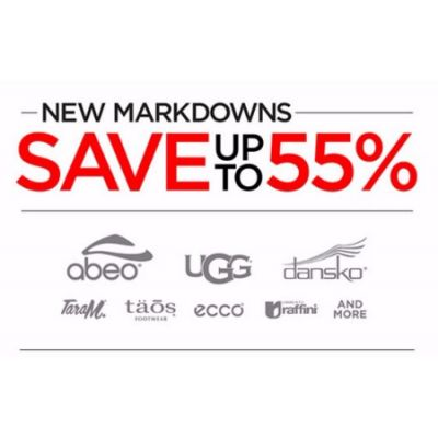 New Markdowns up to 55% Off