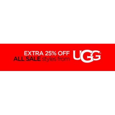 Extra 25% Off All Sale Styles from UGG