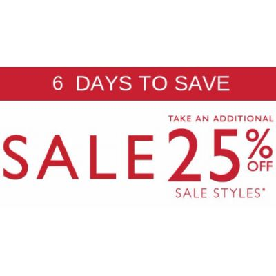 Additional 25% Off Sale Styles