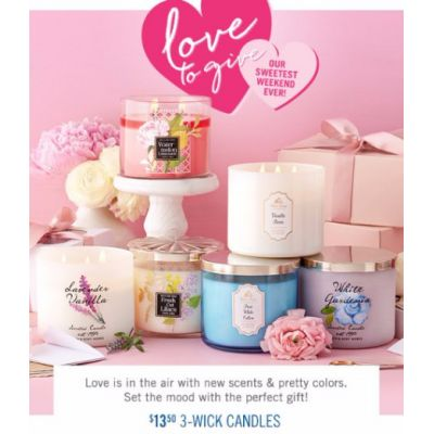 $13.50 3-Wick Candles
