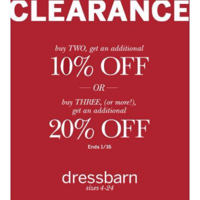 This Weekend Only! Visit dressbarn, Shop & Save on Clearance!