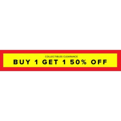 BOGO 50% Off All Clearance Collectibles
