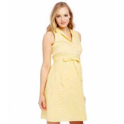 Eyelet Maternity Shirt Dress