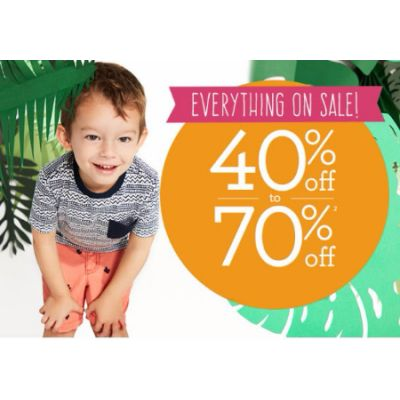Everything on Sale 40% Off to 70% Off