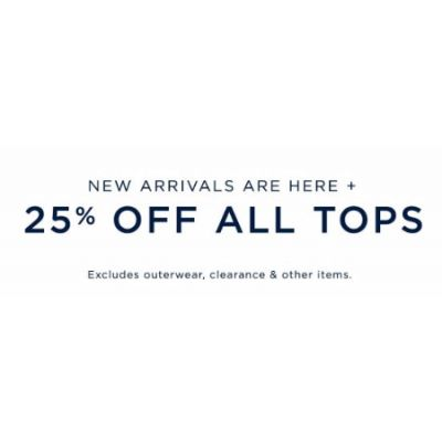 25% Off All Tops
