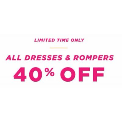 40% Off All Dresses & Rompers