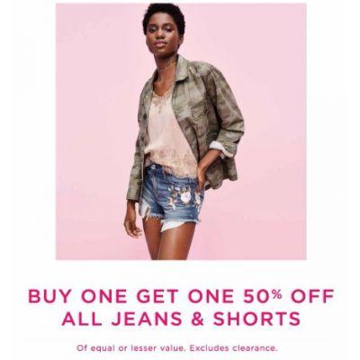 BOGO 50% Off All Jeans & Shorts