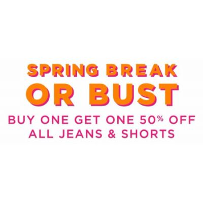 BOGO 50% Off All Jeans & Shorts