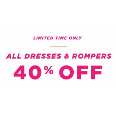 All Dresses & Rompers 40% Off