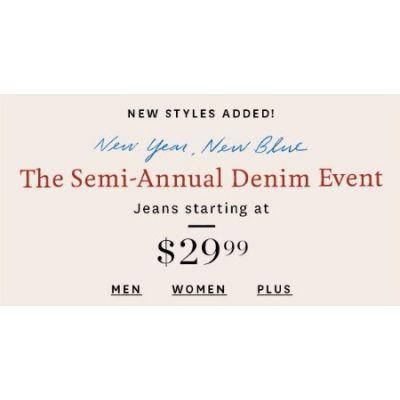 The Semi-Annual Denim Event