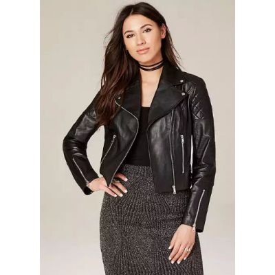 Diamond Quilted Moto Jacket