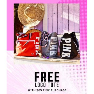 Free Logo Tote With $65 PINK Purchase