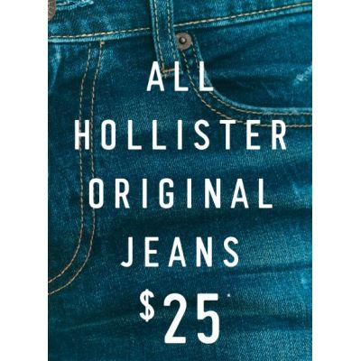 All Hollister Original Jeans $25