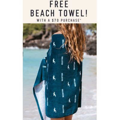 Free Beach Towel With a $70 Purchase