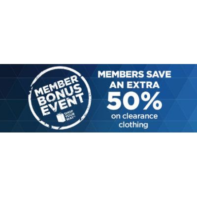 Save an Extra 50% on Clearance Clothing