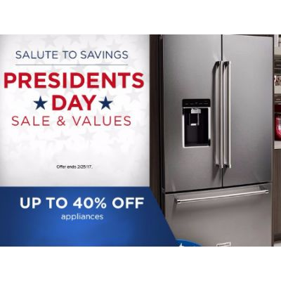 Up to 40% Off Appliances