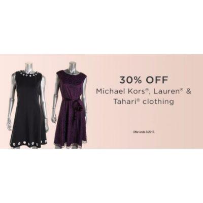 30% Off Michael Kors, Lauren & Tahari Clothing