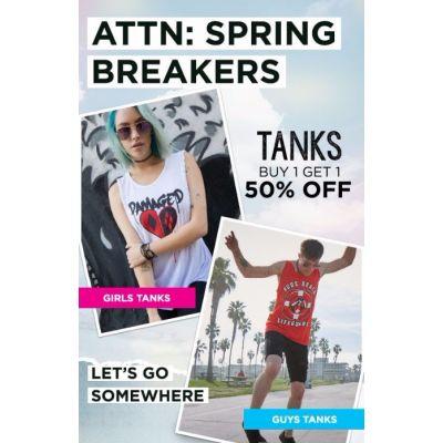 BOGO 50% Off Tanks