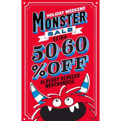 Extra 50% to 60% Off Already Reduced Merchandise