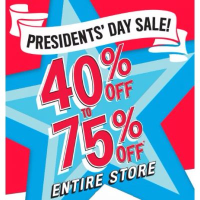 40% Off to 75% Off Everything