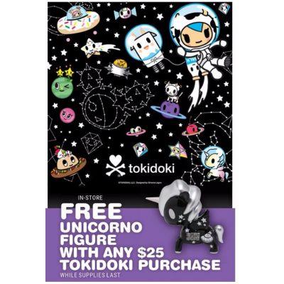 Free Unicorno Figure with Any $25 Tokidoki Purchase
