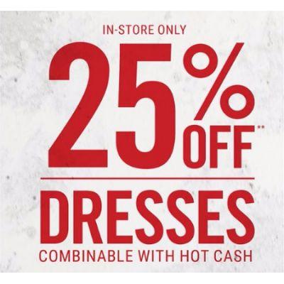 25% Off Dresses