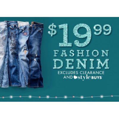 $19.99 Fashion Denim