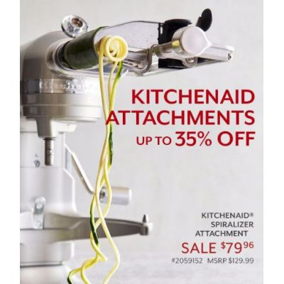 Up to 35% Off KitchenAid Attachments