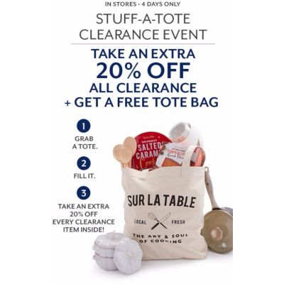 Stuff-a-Tote Clearance Event