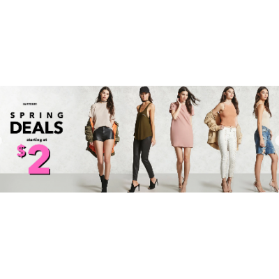 Spring Deals Starting at $2